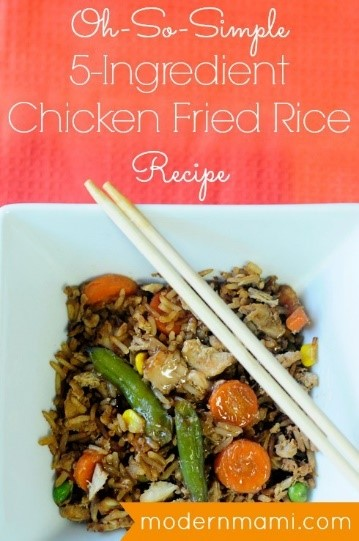 5 ingred chicken fried rice